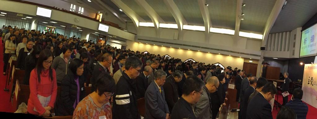全體來賓一起祈禱 - 相片由《談天說道》拍攝提供